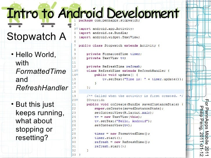 Intro to Android Development by Philip Peng