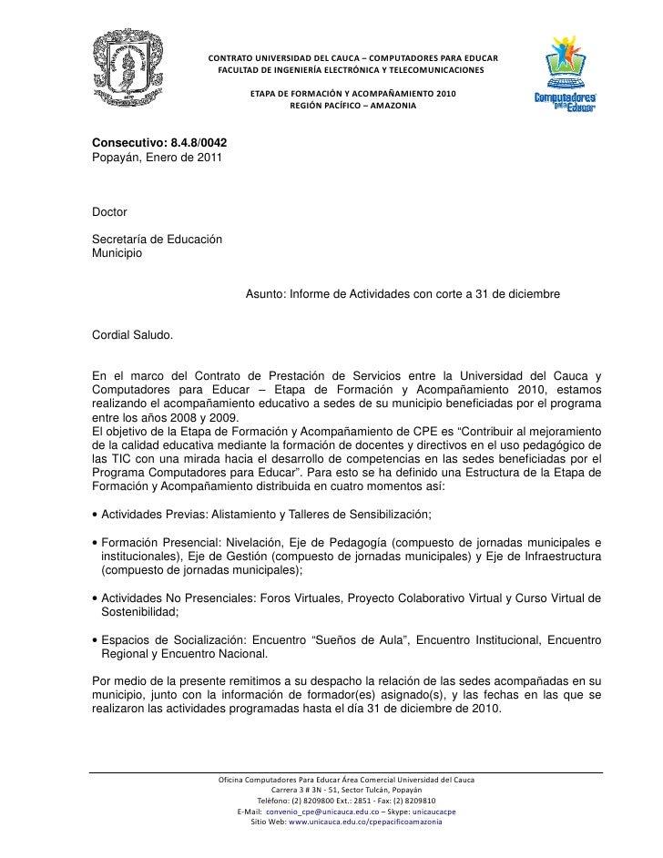 CONTRATO UNIVERSIDAD DEL CAUCA – COMPUTADORES PARA EDUCAR                        FACULTAD DE INGENIERÍA ELECTRÓNICA Y TELE...