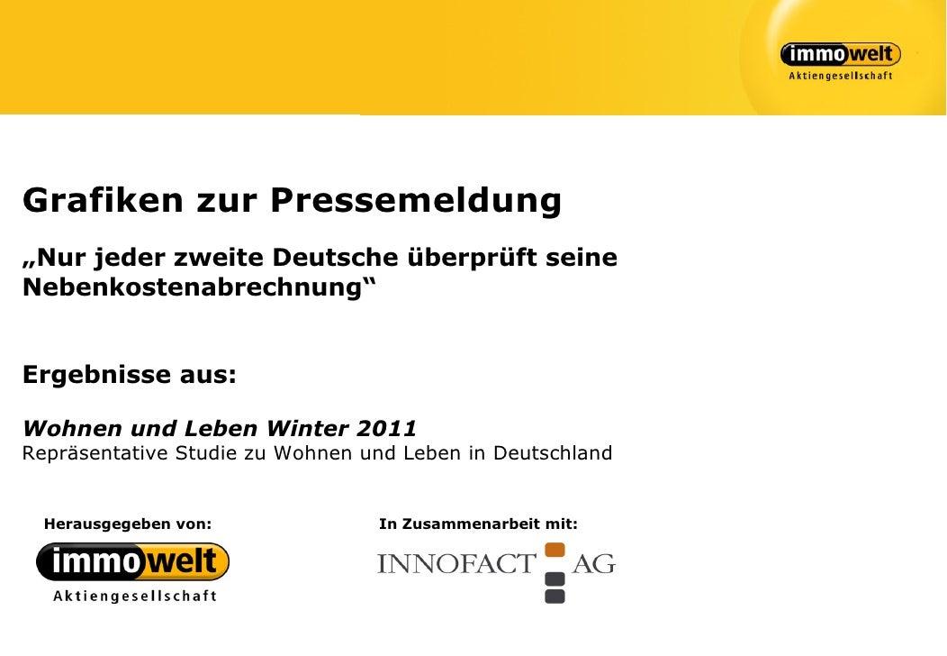 """Grafiken zur Pressemeldung""""Nur jeder zweite Deutsche überprüft seineNebenkostenabrechnung""""Ergebnisse aus:Wohnen und Leben ..."""