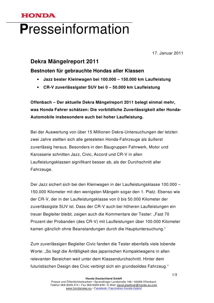 Presseinformation                                                                                        17. Januar 2011 D...