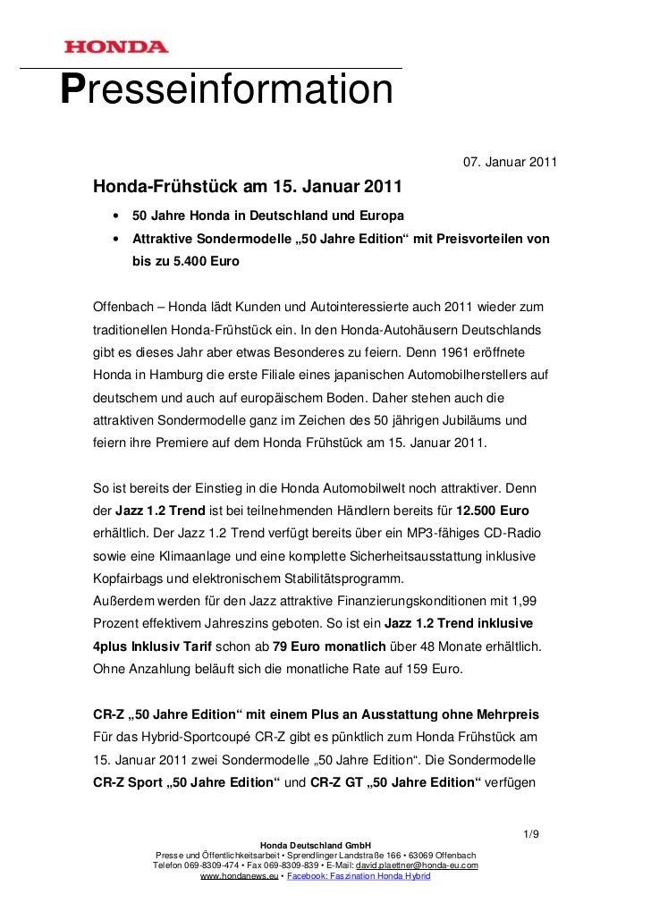 Presseinformation                                                                                        07. Januar 2011 H...