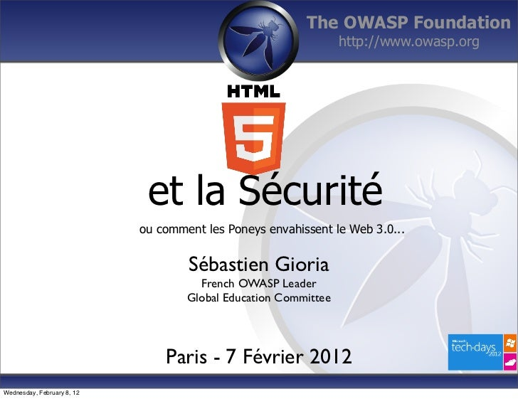 The OWASP Foundation                                                                 http://www.owasp.org                 ...
