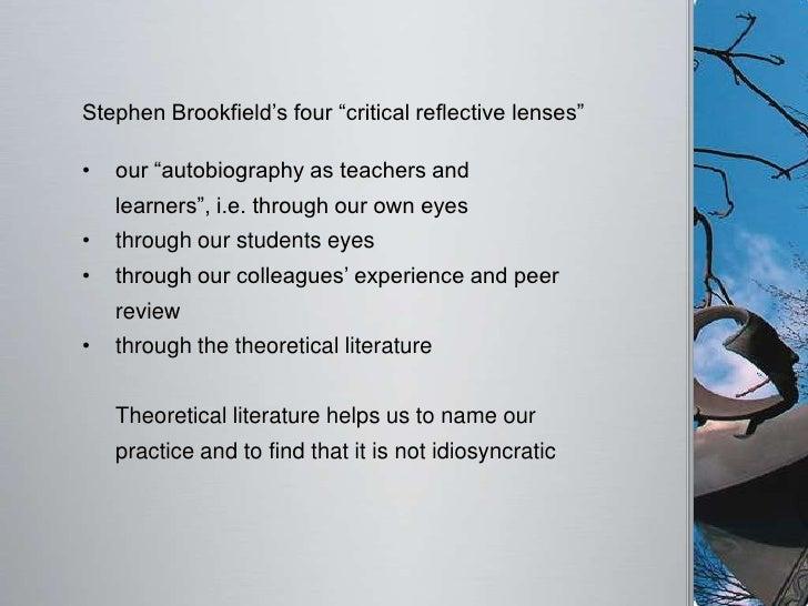 Stephen brookfield critical thinking framework