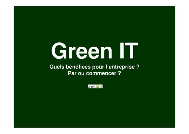 Inovallee : présentation Green IT