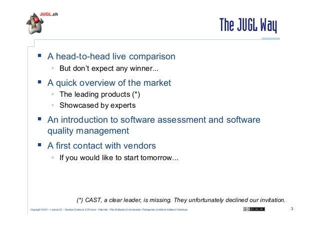 Session dédiée à l'analyse de la qualité du code Java - Cyril Picat - February 2011 Slide 3