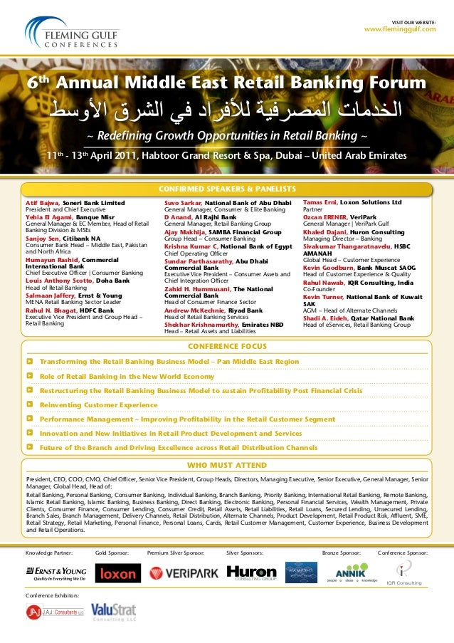 visit our website:www.fleminggulf.comCONFIRMED SPEAKERS & PANELISTSCONFERENCE FOCUSWHO MUST ATTEND11th- 13thApril 2011, Ha...