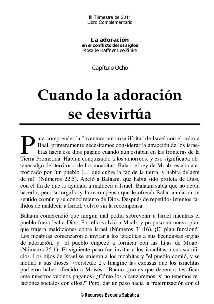 III Trimestre de 2011                             Libro Complementario                              La adoración          ...
