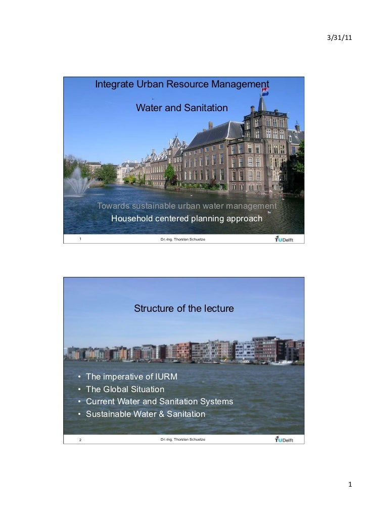 3/31/11       Integrate Urban Resource Management                       Water and Sanitation       Towards sustainable ur...