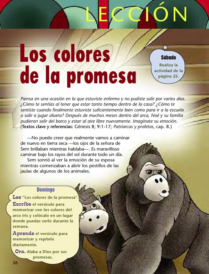 LECCIÓN     Los colores                                                             Sábado                                ...