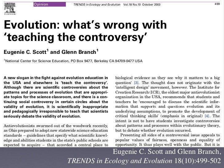 controversial scientific topics