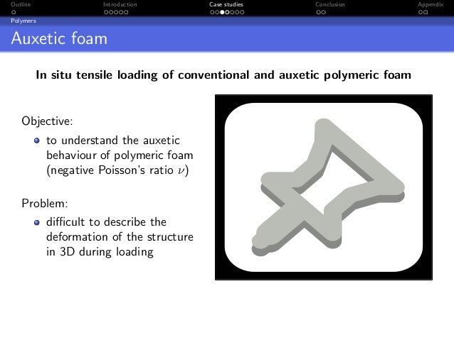 Outline              Introduction         Case studies     Conclusion          AppendixPolymersAuxetic foam          In si...