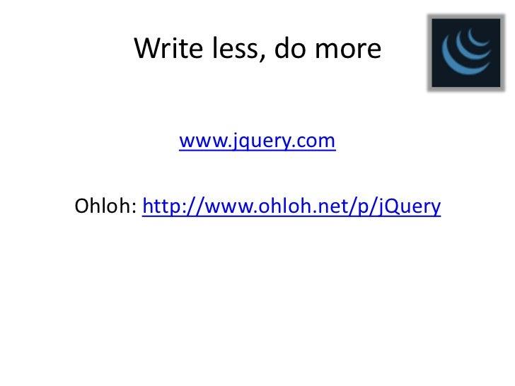 Základy jQuery Slide 3