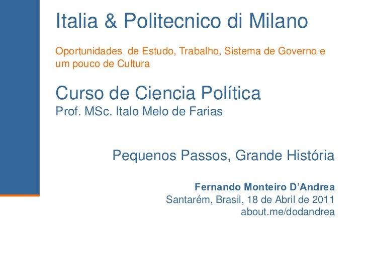 2011 04-18 - Politecnico di Milano e Italia