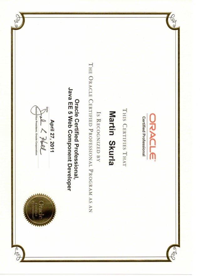 Oracle Certified Professional Java EE 5 Web Component Developer