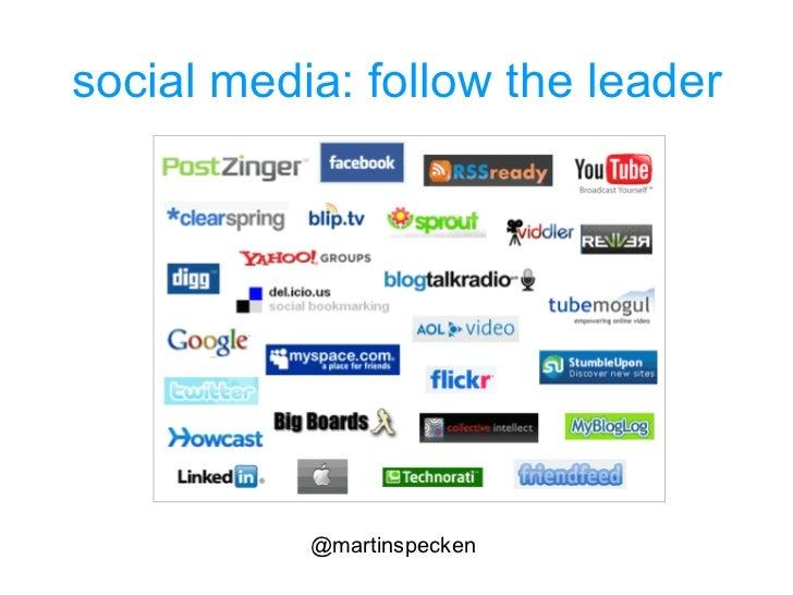 social media: follow the leader @martinspecken