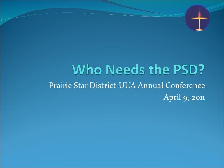 Prairie Star District-UUA Annual Conference April 9, 2011