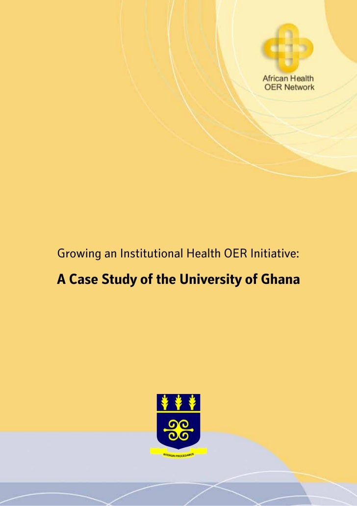 Health OER Case Study - University of Ghana