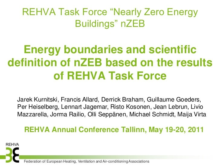 "REHVA Task Force ""Nearly Zero Energy           Buildings"" nZEB   Energy boundaries and scientificdefinition of nZEB based ..."