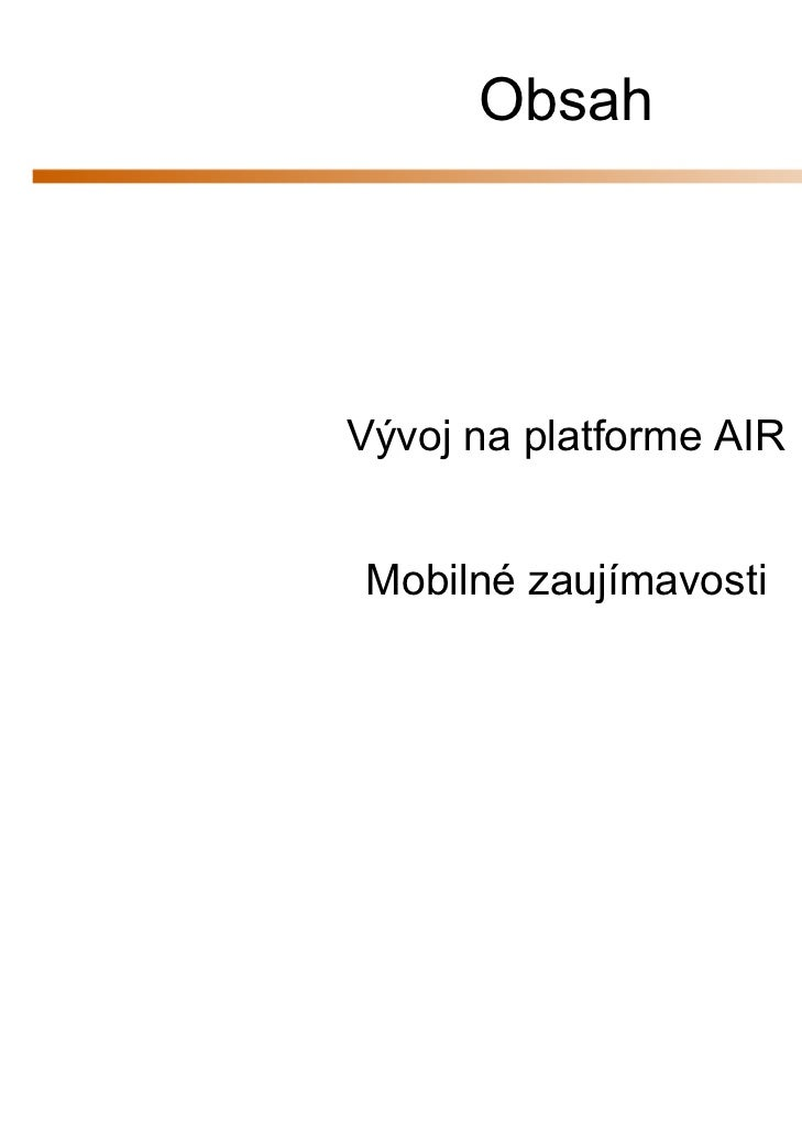 Mobile first! Plynulý workflow - AIR Slide 2