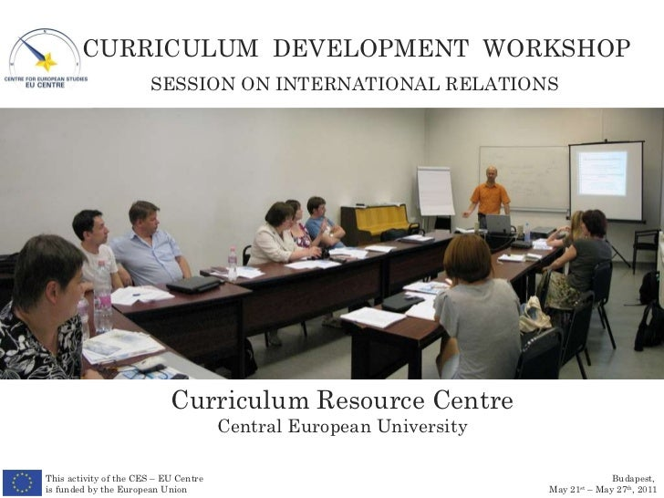 Curriculum Resource Centre Central European University SESSION ON INTERNATIONAL RELATIONS This activity of the CES – EU Ce...