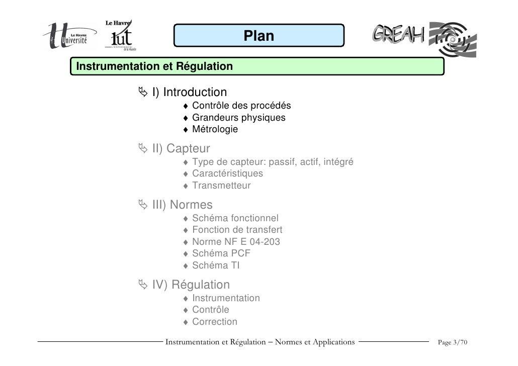 Instrumentation et régulation Slide 3