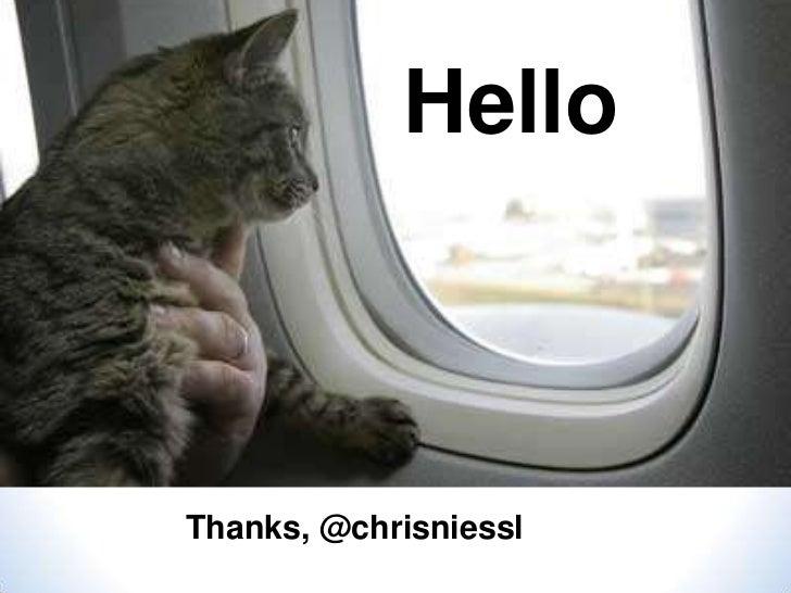 HelloThanks, @chrisniessl
