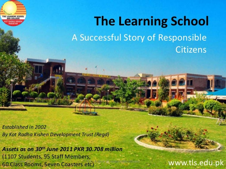The Learning School                                  A Successful Story of Responsible                                    ...