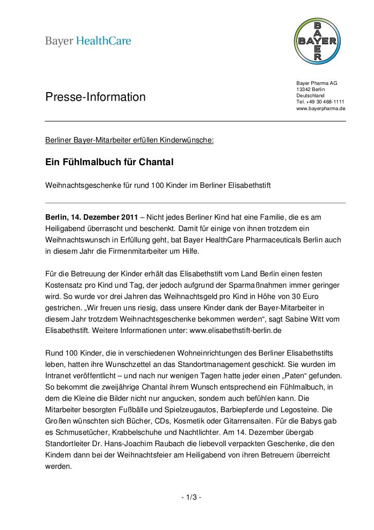 Bayer Pharma AG                                                                          13342 BerlinPresse-Information   ...
