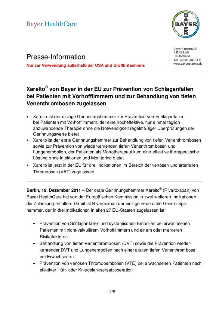 Bayer Pharma AG                                                                              13342 BerlinPresse-Informatio...