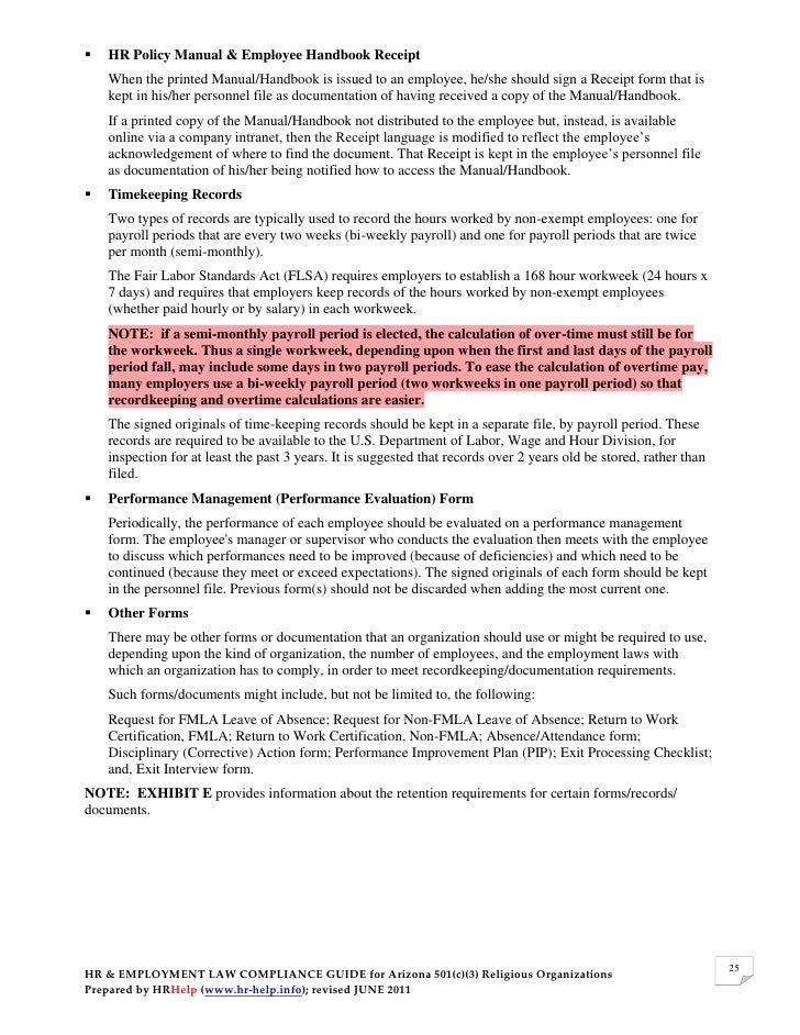 Employment laws compliance plan