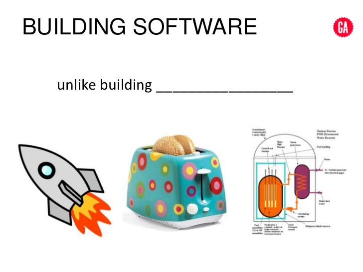 Building SOFTWARE<br />unlike building _________________<br />
