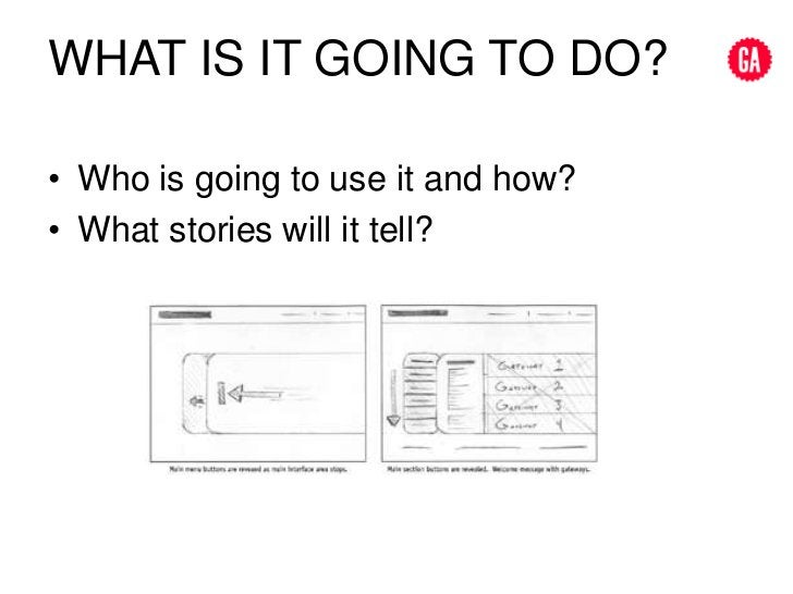 what is IT going to do?<br />Who is going to use it and how?<br />What stories will it tell?<br />