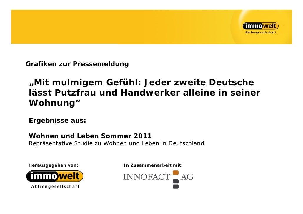 """Grafiken zur Pressemeldung""""Mit mulmigem Gefühl: Jeder zweite Deutschelässt Putzfrau und Handwerker alleine in seinerWohnun..."""