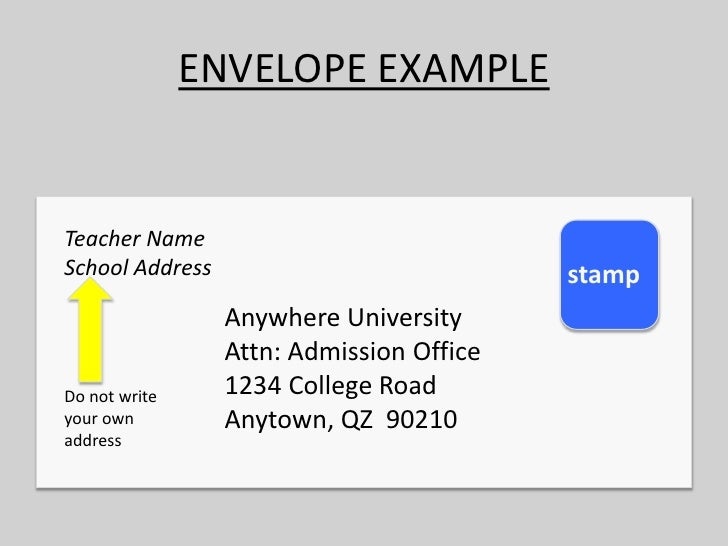 How to write a envelope leoncapers how to write a envelope how to write an envelope to a college how to format cover letter spiritdancerdesigns Image collections