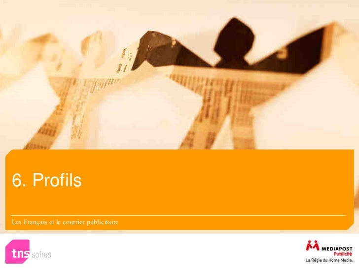 6. ProfilsLes Français et le courrier publicitaire