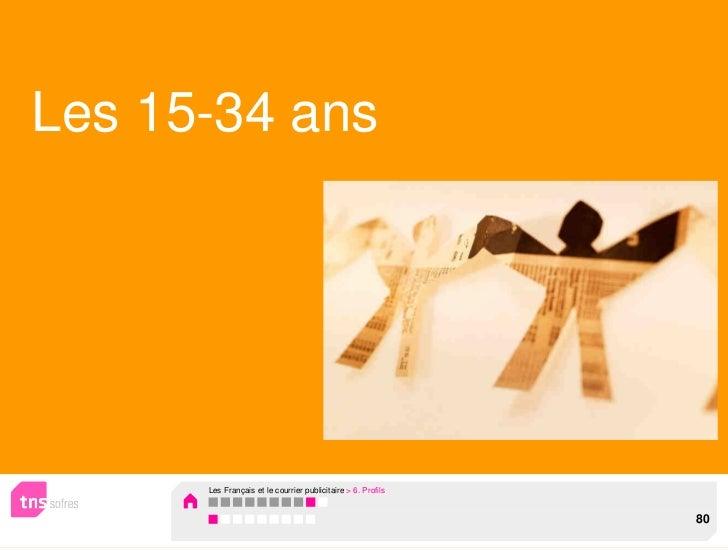 Les 15-34 ans      Les Français et le courrier publicitaire > 6. Profils                                                  ...