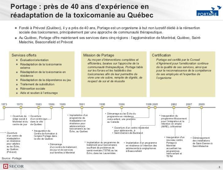 Les besoins et l'importance des traitements de la dépendance aux drogues illicites au Québec Slide 3
