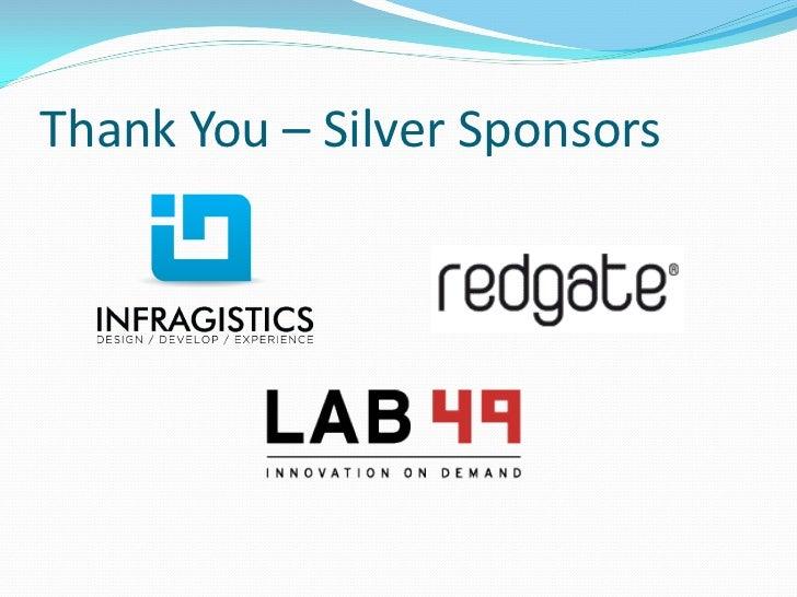 Thank You – Silver Sponsors