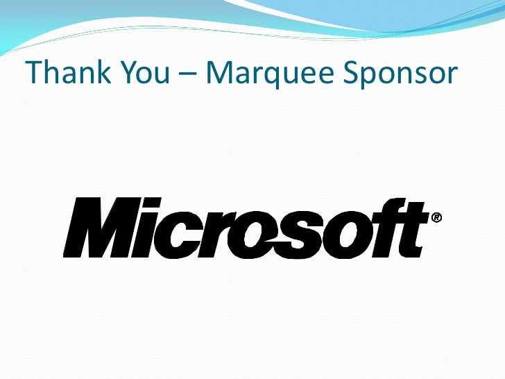 Thank You – Marquee Sponsor