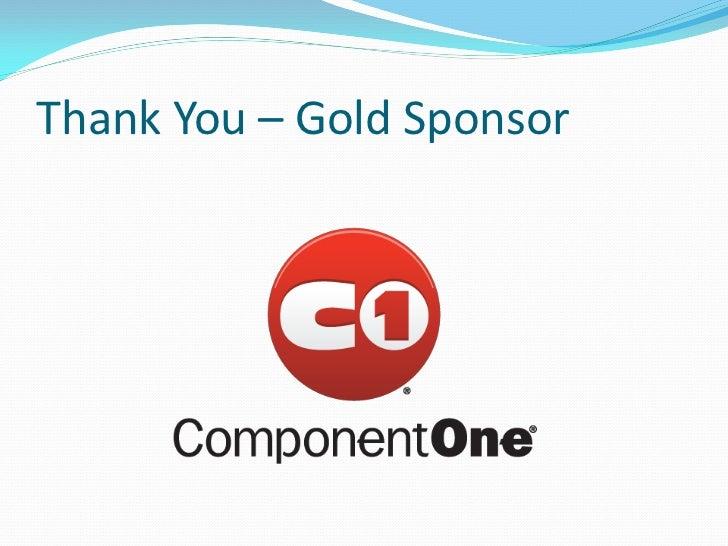 Thank You – Gold Sponsor