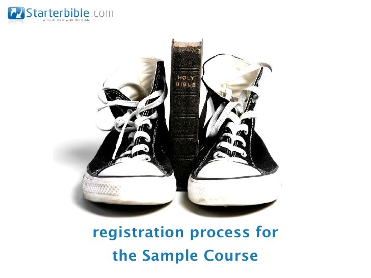 registration process for  the Sample Course
