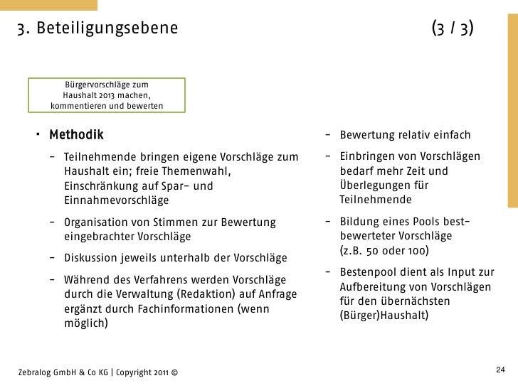 3. Beteiligungsebene                                                        (3 / 3)           Bürgervorschläge zum        ...