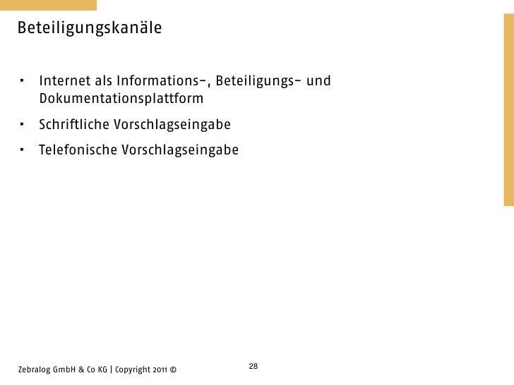 Beteiligungskanäle    Internet als Informations-, Beteiligungs- und     Dokumentationsplattform    Schriftliche Vorschla...