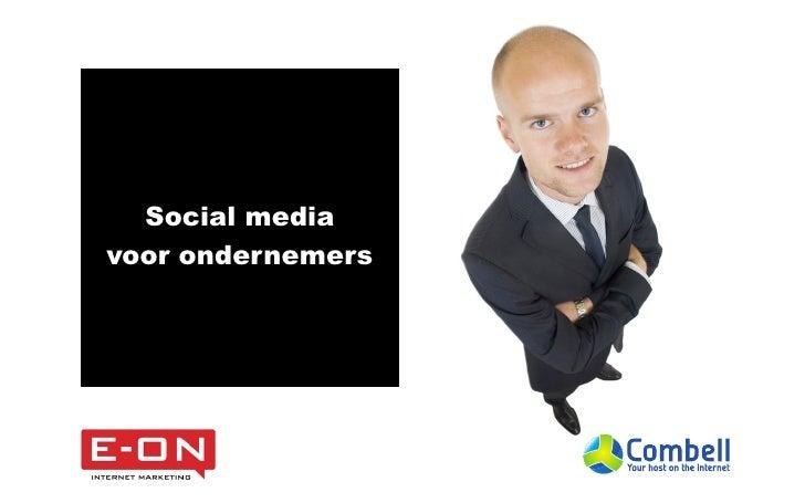 Social mediavoor ondernemers