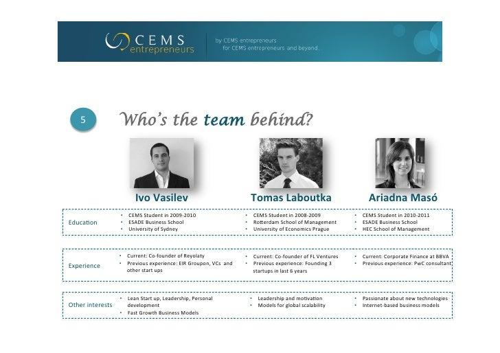 5                Who's the team behind?                                  Ivo Vasilev                                ...
