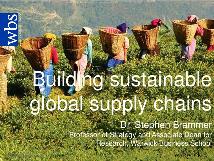 Building sustainable             global supply chains                                         Dr. Stephen Brammer         ...
