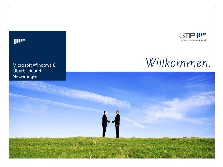 Microsoft Windows 8Überblick undNeuerungen