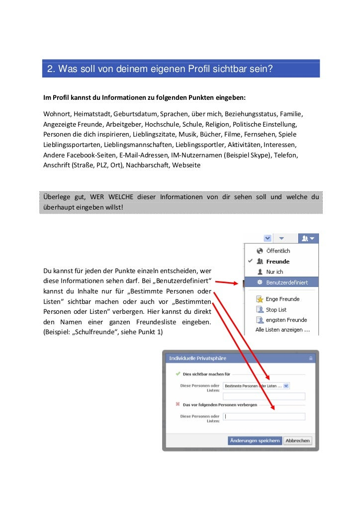Für bestimmte verbergen facebook beziehungsstatus personen Facebook: 20