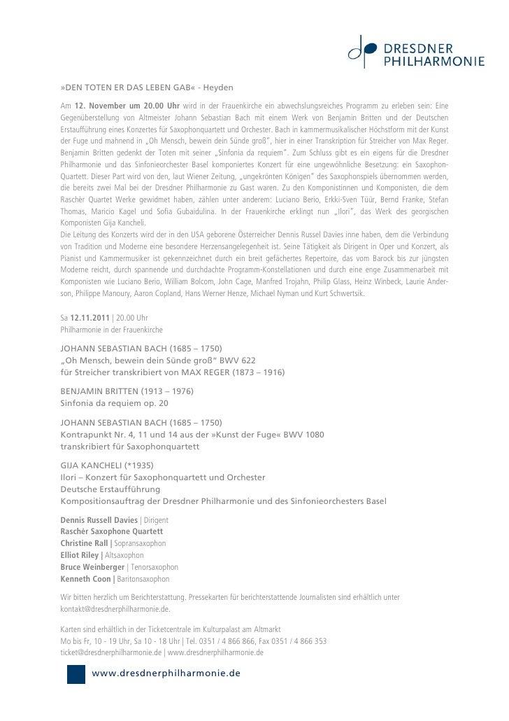 »DEN TOTEN ER DAS LEBEN GAB« - HeydenAm 12. November um 20.00 Uhr wird in der Frauenkirche ein abwechslungsreiches Program...