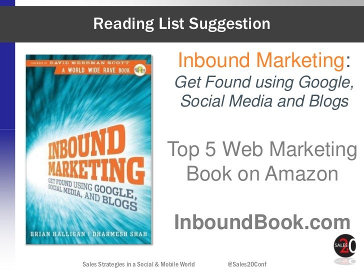 Reading List Suggestion                                    Inbound Marketing:                                  Get Found u...